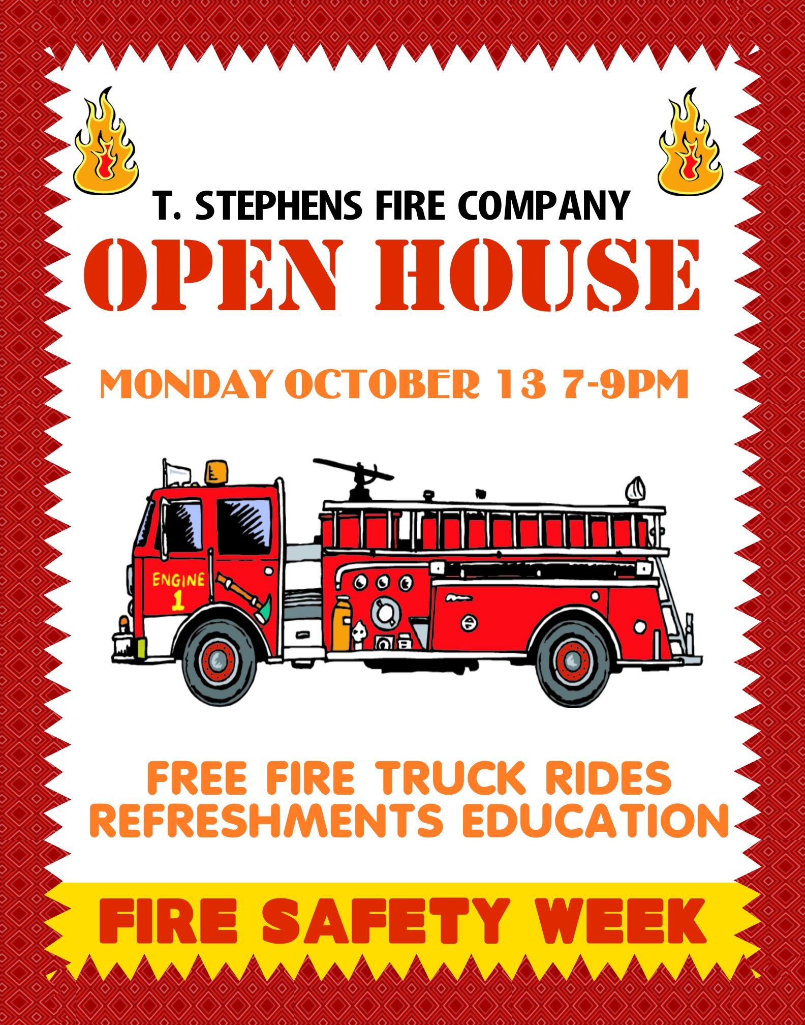 Create A Poster About Open House Fire Safety Promotion