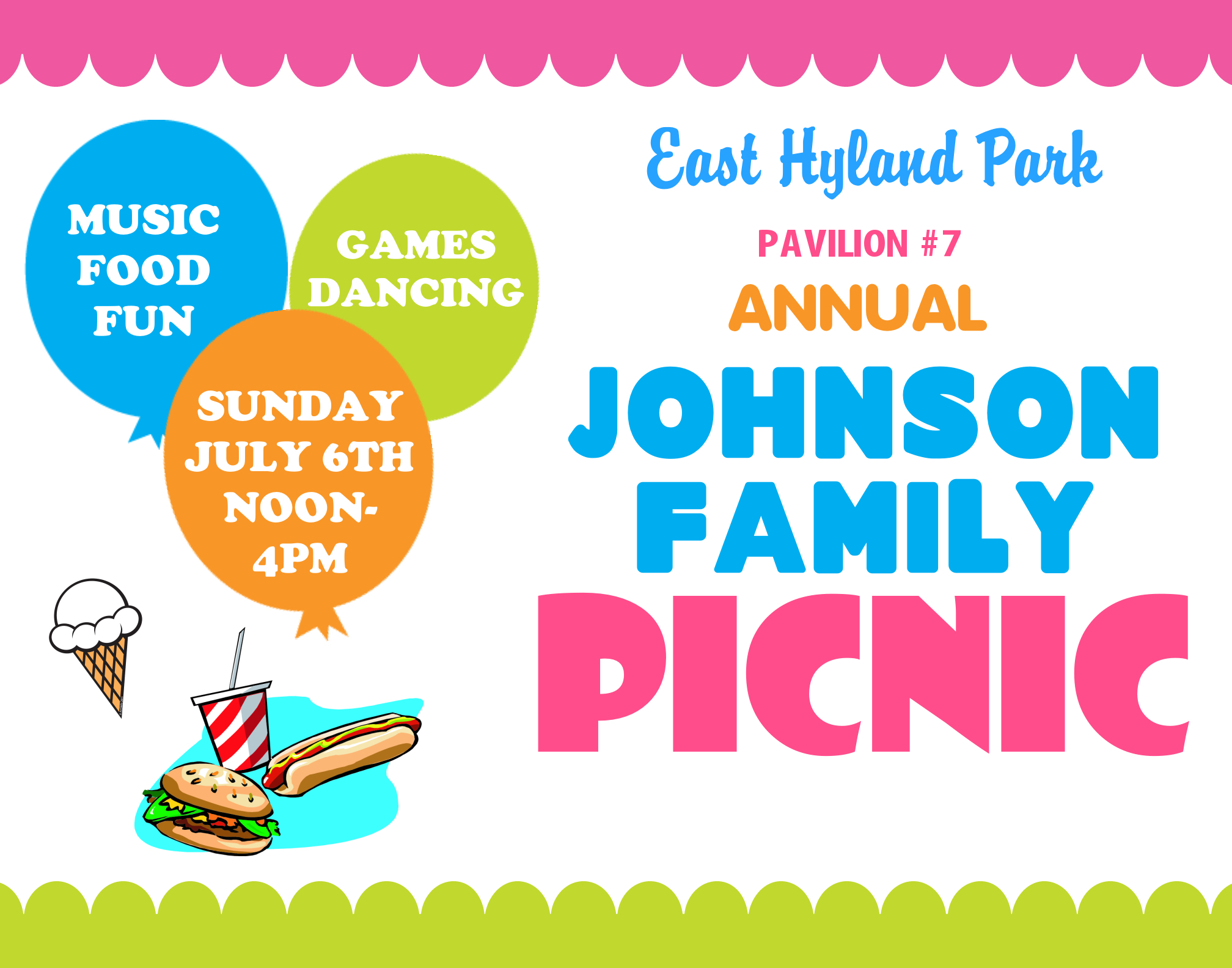Create A Poster About Family Picnic Event Family