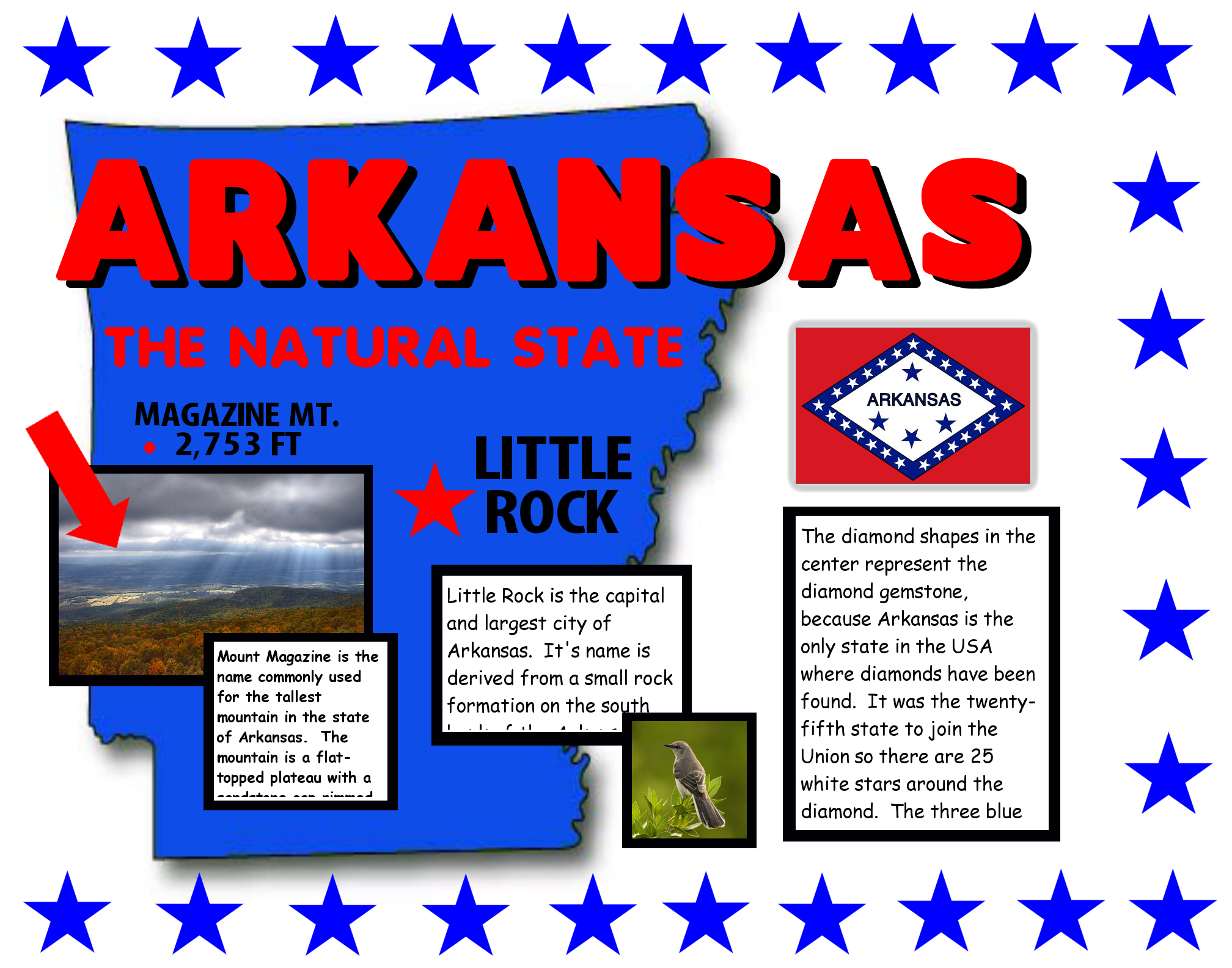 Make A Poster About Arkansas The Natural State Poster Ideas