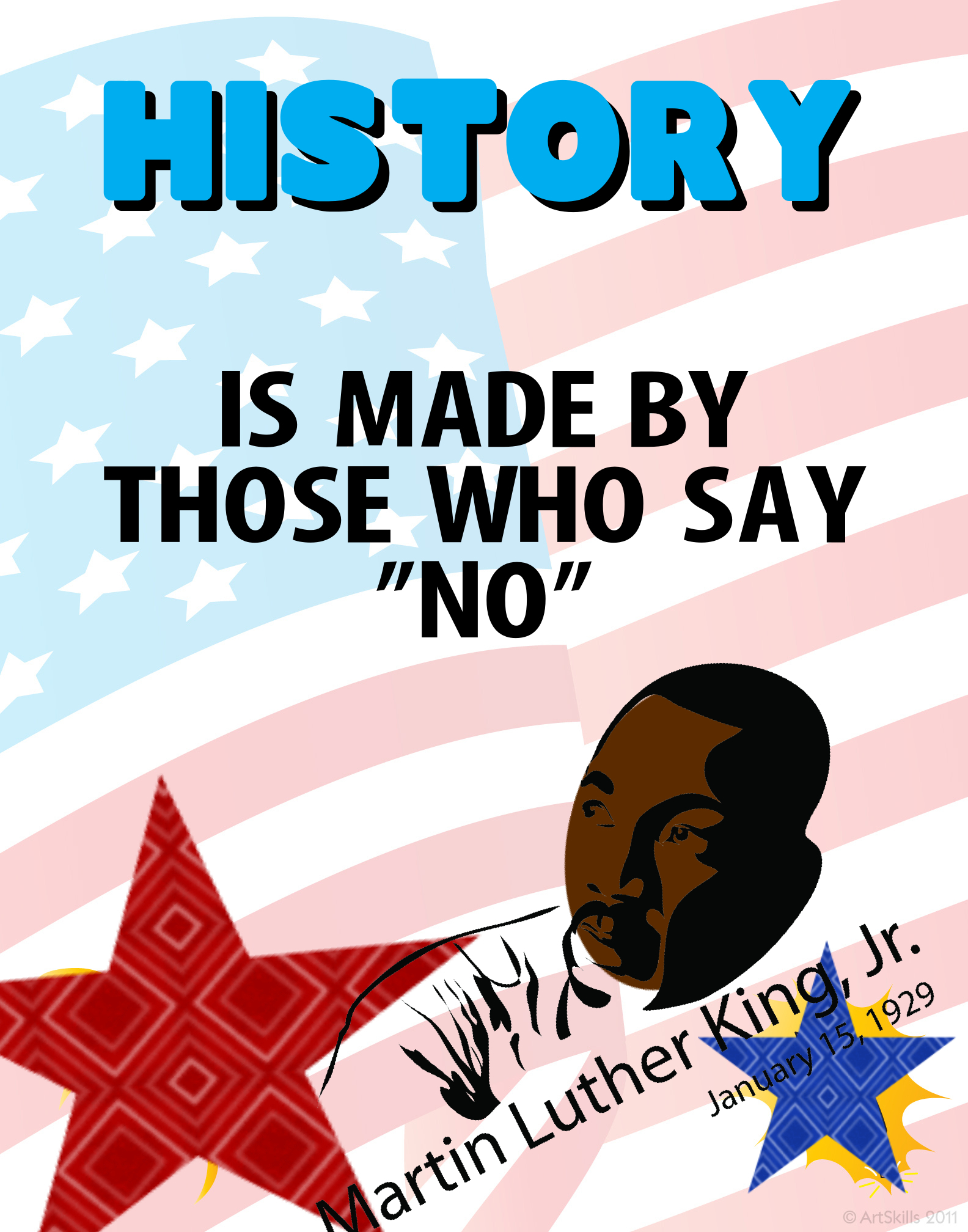 Create A Poster About Martin Luther King Jr Black
