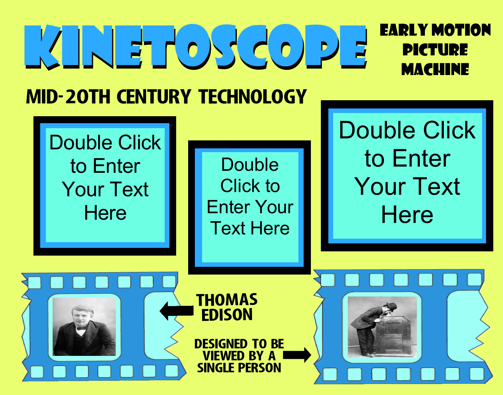 make a science fair project about kinetoscope