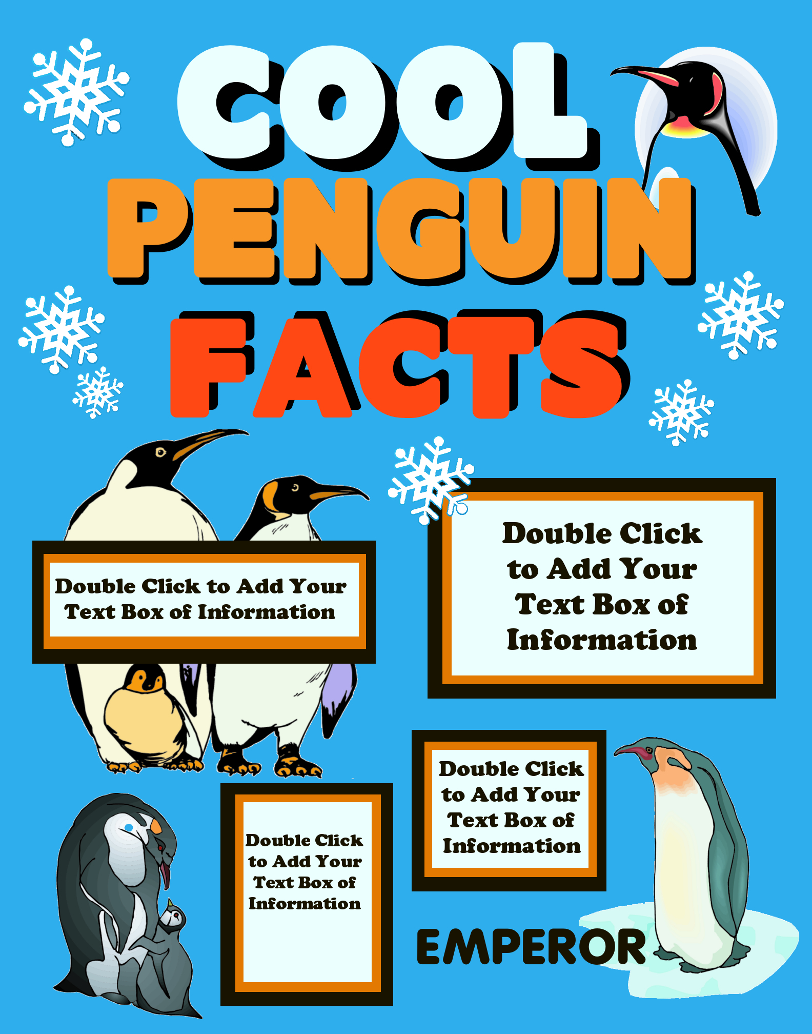 Make a Science Fair Project on Penguins | Animal Science Poster Ideas ...