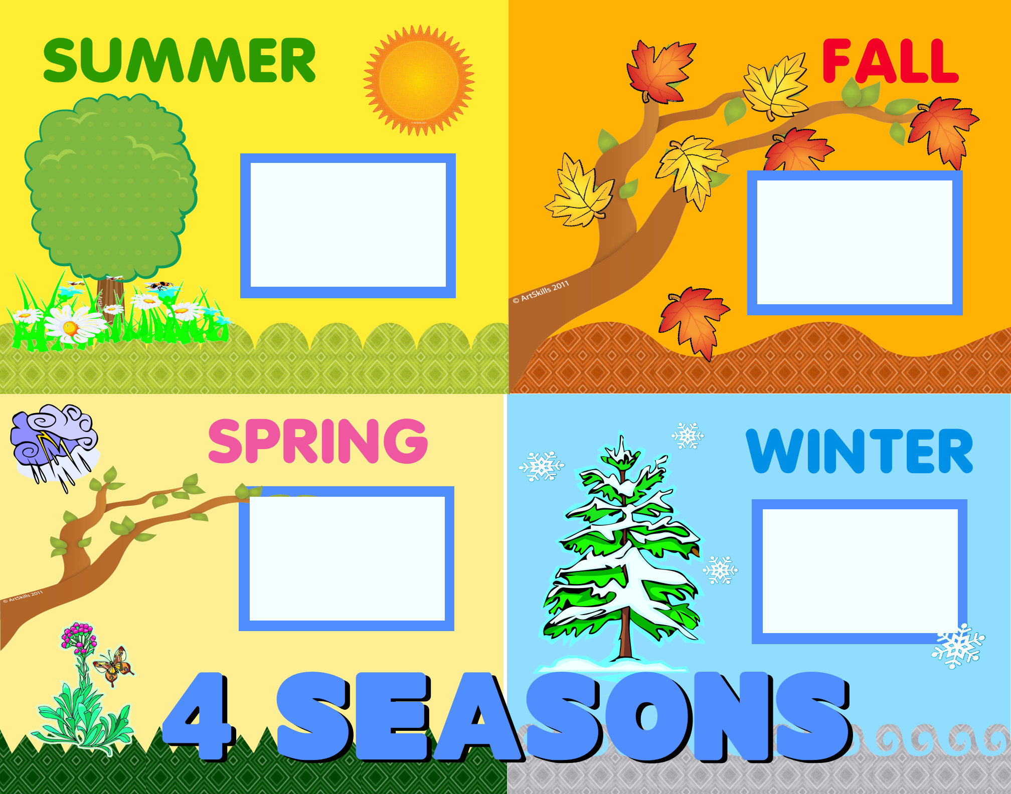 create a 4 seasons poster school poster educational science fair clip art black and white science fair clip art with cups and candles