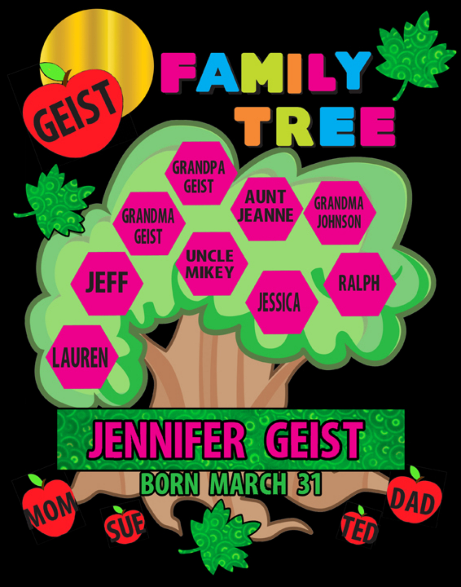 create a family tree poster