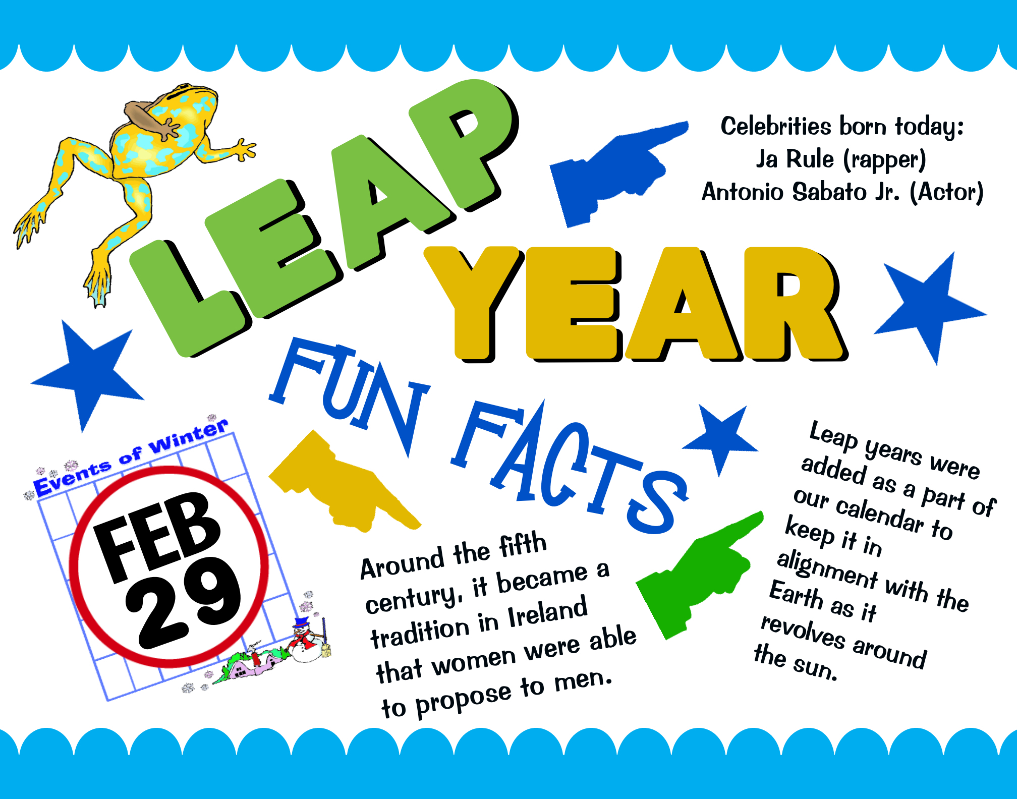 Make a Fun Facts Poster about Leap Year | Leap Year Poster Ideas