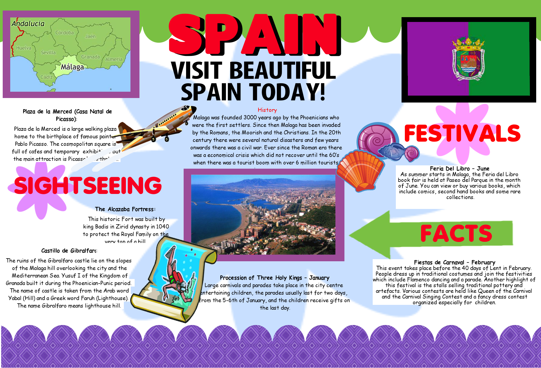 Create a Poster About Spain | Tourism Promotion | Geography Poster ...