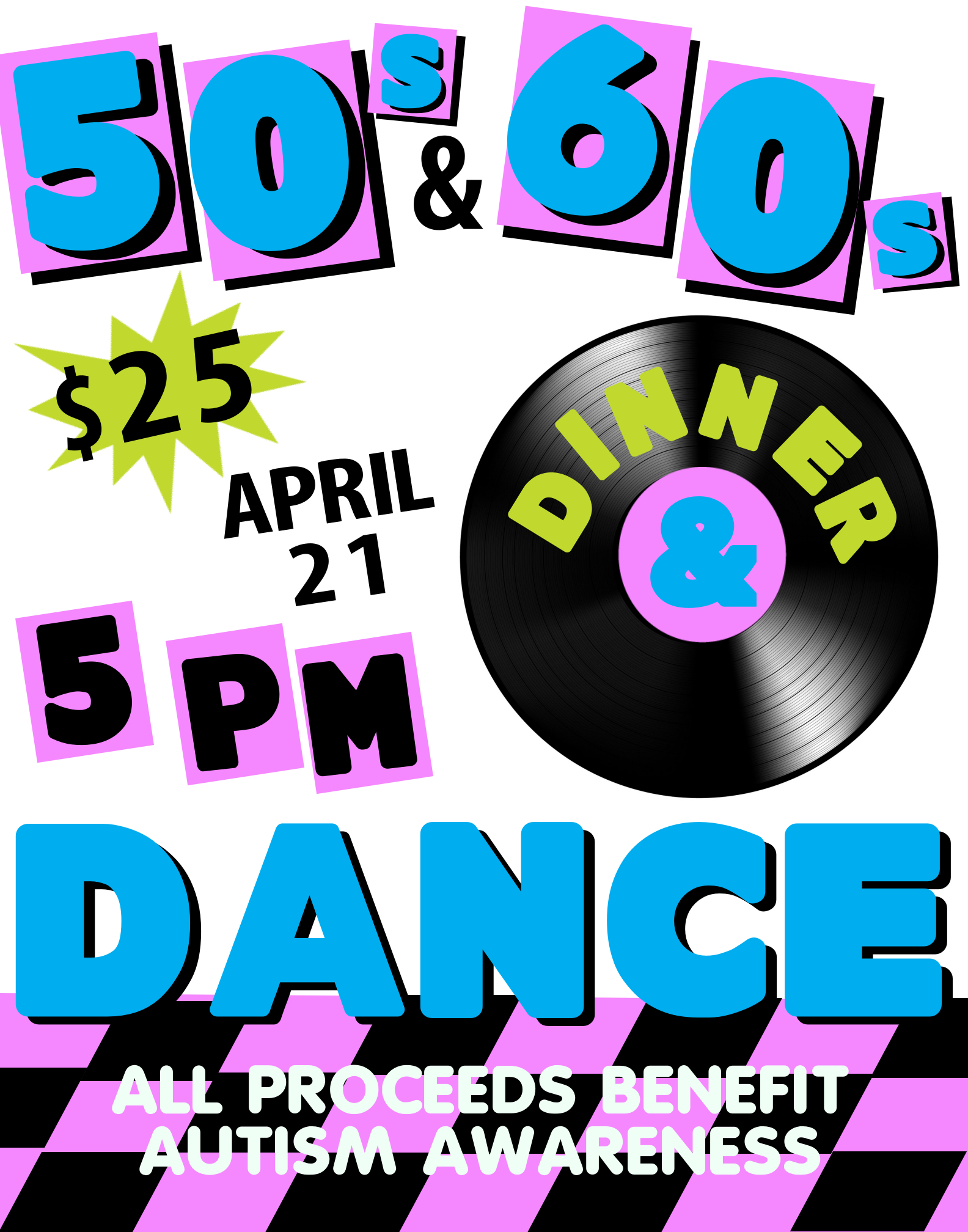 Create A 50s And 60s Dinner Dance Poster Party Poster