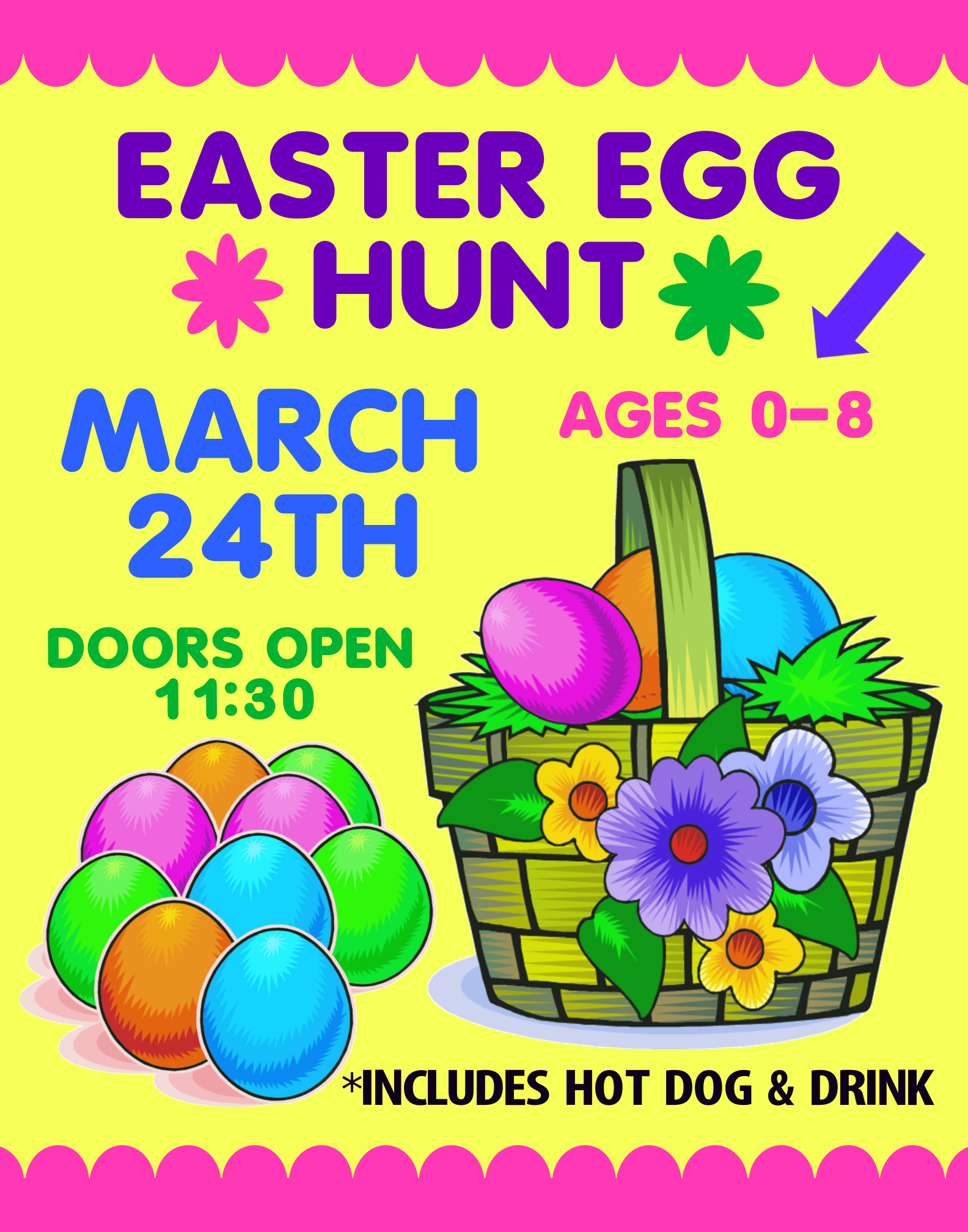 make an easter event poster