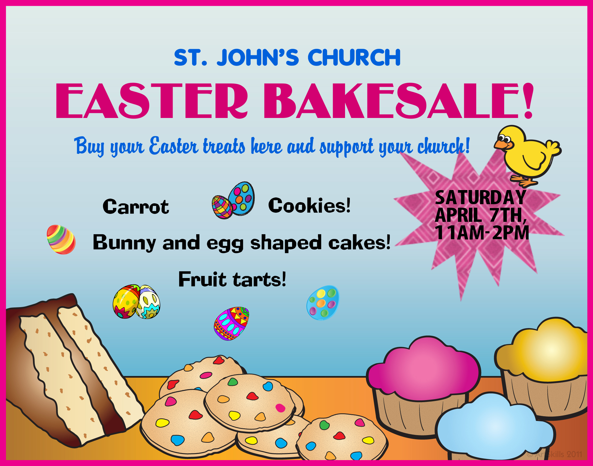 Create A Easter Bake Sale Poster Church Bake Sale Poster