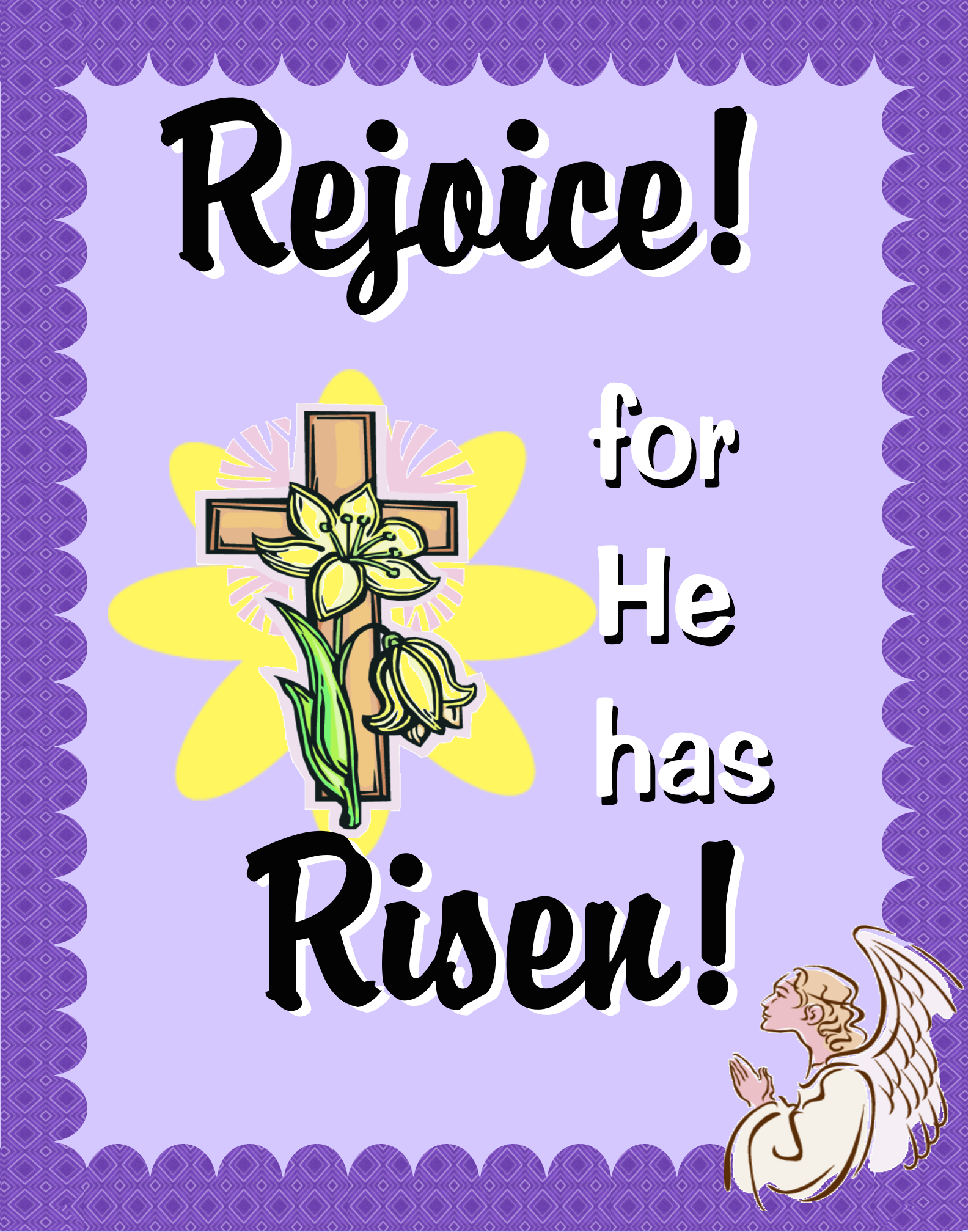 create a poster about good friday and easter