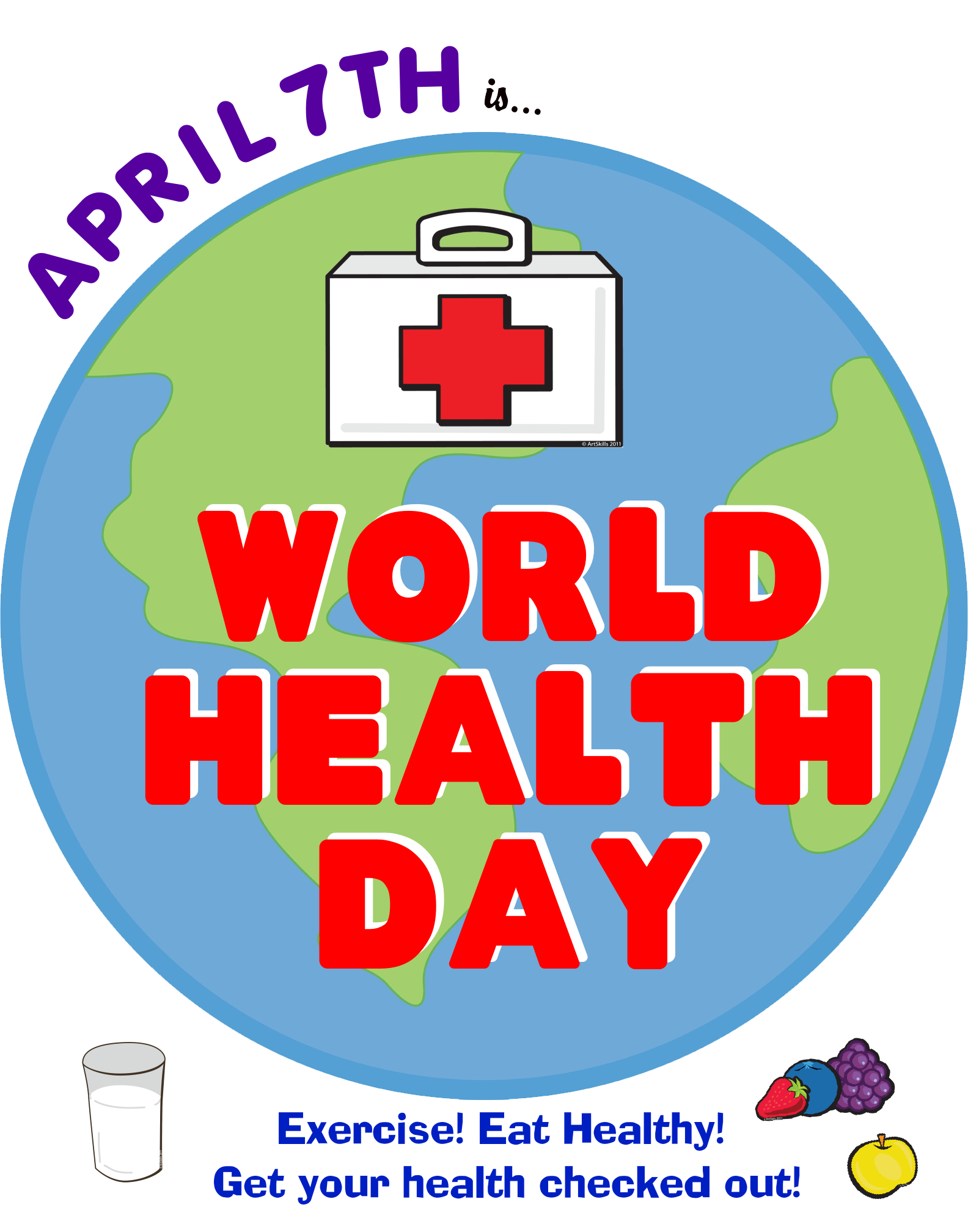 ... Health Day | Fun World Health Day Science Poster Ideas for Your Kids