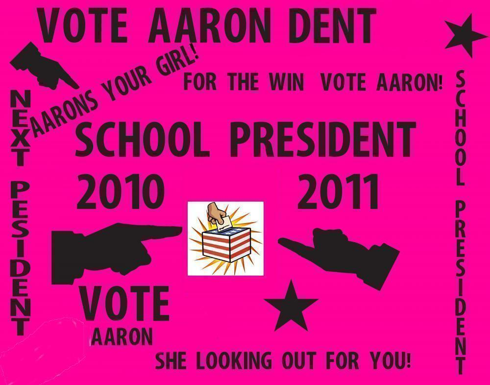 Make A Vote For School President Poster School Election