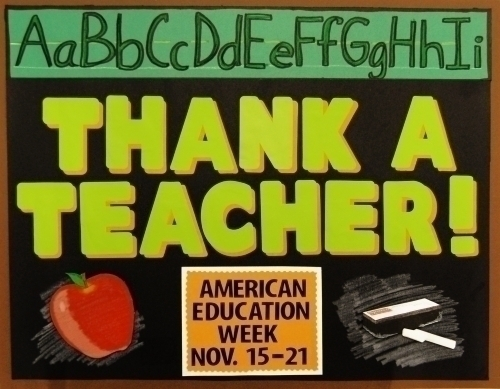 Make American Education Week Poster Teacher Appreciation