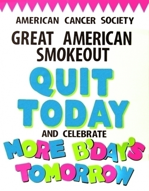 make a poster about great american smokeout