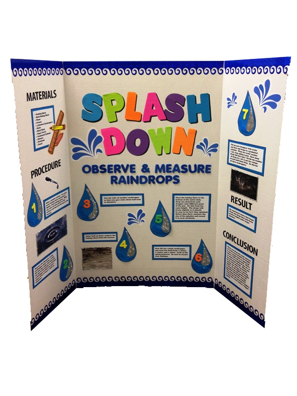 Science fair project about how to measure raindrops rain science