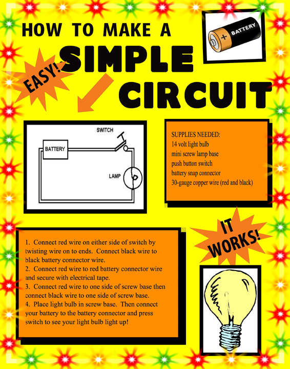 make a science fair project poster ideas simple battery circuit circuit science project for kids