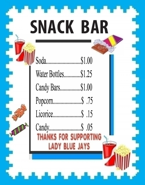 Make a Snack Bar Price List Poster : School Snack Bar Business Poster ...