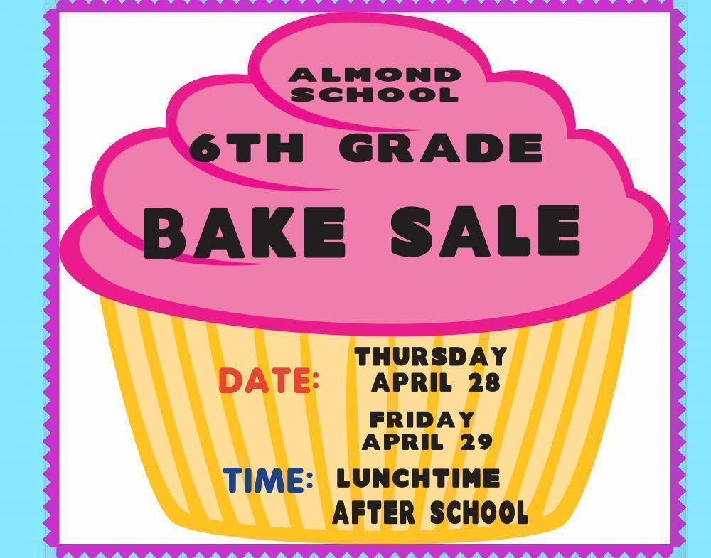 make a 6th grade bake sale poster