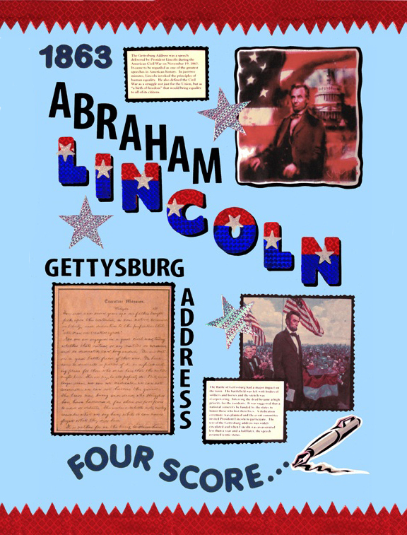 make a poster about abraham lincoln
