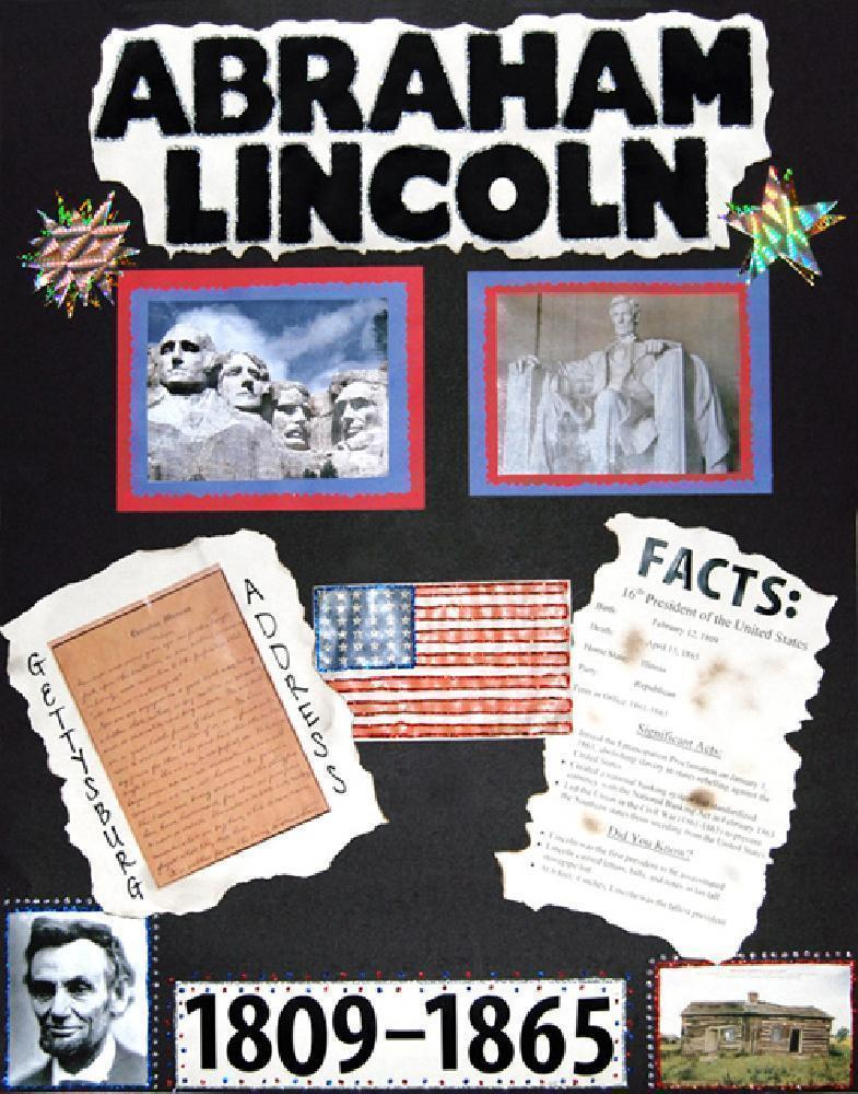 Make a Poster About Abraham Lincoln Facts | Presidents Poster Ideas