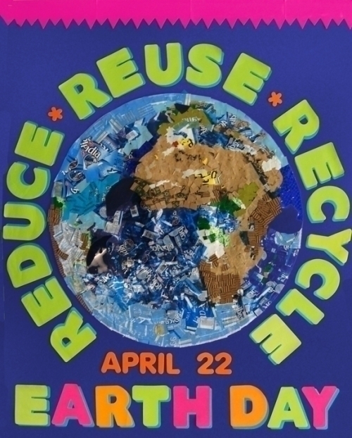 Make An Earth Day Poster Recycling Reusing Reducing