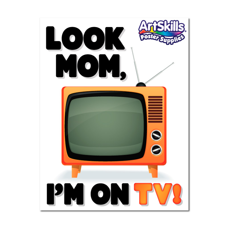 Look Mom, I'm on TV! | Today Show Poster Idea