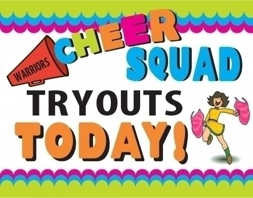 Create A Poster About Tryouts Cheerleading Squad